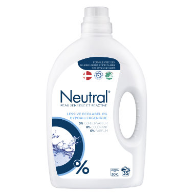 NEUTRAL Lessive liquide Ecolabel 0% 1,75l 35 lavages